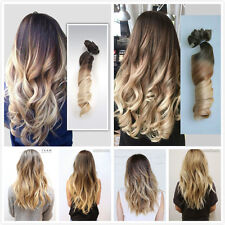 22 Inch Full Head Clip in Hair Extensions Ombre One Piece Wavy Curly Straight