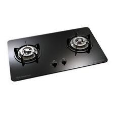 75cm Gas Glass Cooktop 2 Burners Built In Natural Gas Black White Hi-grade