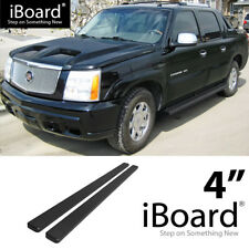 Running Board Side Step Nerf Bars 4in Black Fit Cadillac Escalade ESV EXT 02-13