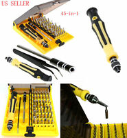 45 in 1 Torx Precision Screwdriver Tweezer Mobile Kit Cell Phone Repair Tool Set