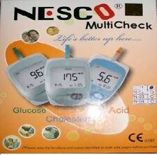 Nesco Multicheck Glucose Uric acid Cholesterol Meter Test Kit Health Monitoring