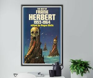 """1952-64 Frank Herbert Science Fiction POSTER! (up to 24"""" x 36"""") - Vintage SciFi"""
