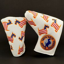 US Flag Scottie Dog Head Cover, TaylorMade White Smoke Rossa Blade Putter, White