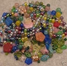 NEW! 350+ WILD FLOWER BOUQUET GLASS BEADS MIX Czech+Lot