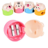 Cute Cat Plastic Pencil Sharpener For Kids Student School Office Home 3C