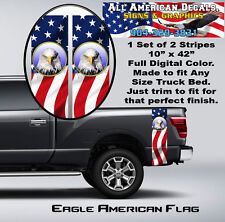 American Eagle Flag Truck Bed Band Auto Stripe Decal Kit Graphics
