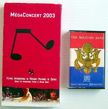 ONE VHS VIDEOTAPE + ONE AUDIOTAPE, MILITARY BANDS, 2003'S QUEBEC CITY FESTIVAL