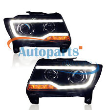 For 2011-2013 Jeep Compass Grand Cherokee with LED DRL and Bi-xenon Projector