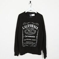 Vintage Novelty Graphic NRG California Big Logo Sweatshirt Black | Medium M