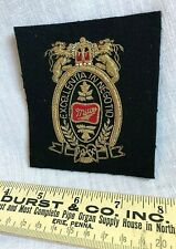 Miller Beer Embroidered Patch Excellentia in Negotio Gold Black 3 1/2x4 Vintage