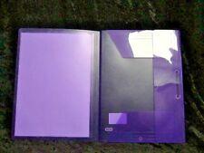 3 Flap Polypropylene Folder Purple 100201150 Elba Polyvision A4 Document Wallet
