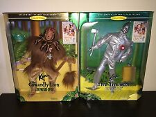 BARBIE HOLLYWOOD LEGENDS WIZARD OF OZ COWARDLY LION & TIN MAN COLLECTOR EDITIONS