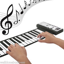 Flexible Diatonic 61 Keys Soft Portable Electric Digital Roll-up Keyboard Piano