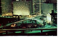 Postcard Unusual View at Night Downtown Pittsburgh Pennsylvania PA Unposted