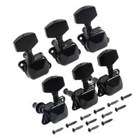 Acoustic Guitar String Semiclosed Tuning Pegs Machine Heads Tuners 3x3 Black