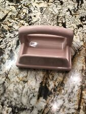 Vintage Ceramic Tile Soap Holder Grab Bar Wash Rag  Mosaic Gloss Pink