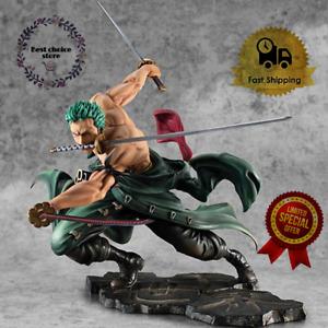 Roronoa Zoro Anime One Piece PVC Action Figure Toys 1/8 Three Collection Model