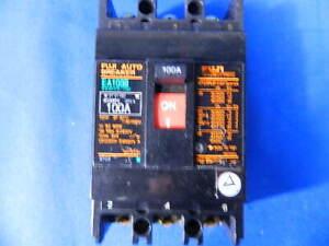 FUJI  EA103B 100A CIRCUIT BREAKER AC220V