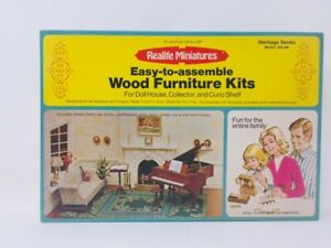 RealLife Miniatures Music Room Grand Piano Chip Dale Sofa Dollhouse  New Vintage