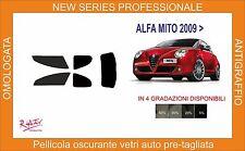pellicola oscurante pre-tagliata vetri alfa romeo mito 3p dal 2009 kit completo