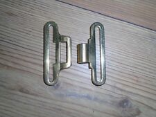 BRASS BELT CLIP AND CLASP FOR WHITE COURLENE BELT BRITISH ARMY ISSUE