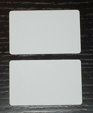 100 Blank PVC Plastic Photo ID White Credit Card 30Mil