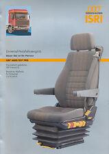 Isri 6800/337 Pro Prospekt Lkw-Sitz, 4 Seiten brochure seat for trucks prospecto