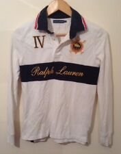 Ladies Ralph Lauren Polo Rugby Shirt Small White Used