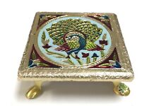 "6"" x 6"" Indian Bajot Bajoth Puja Chowki Table Low Table for Idol Mandir"
