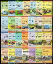NEVIS-Railway Locomotives, Cars-100 All Different, Mostly Mint, Few Used