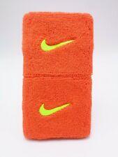 """Nike Swoosh Wristbands Team Orange/Volt 3"""" Men's Women's"""