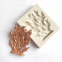 Silicone Coral Seaweed Molds Fondant Chocolate Cake Mold Bakeware Cupcake Craft
