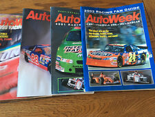 AutoWeek Magazine Fan Racing guides 6 different years stock cars and Indy Car.