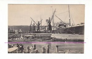 WHITE STAR Liner SUEVIC docked in DURBAN, SOUTH AFRICA c.1900s Vintage postcard