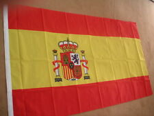SPAIN SPANISH FLAG WITH CREST 5'X3' POLYESTER