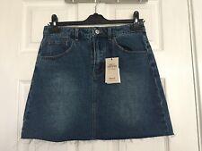 Brand New Denim & Co Women's Mid Blue Denim Short Skirt Size 10