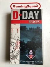 D Day Heroes, 50th Commemorative VHS Video Retro, Supplied by Gaming Squad