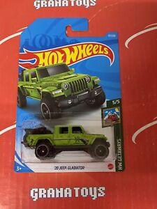 20 Jeep Gladiator #117 5/5 Getaways 2021 Hot Wheels Case L