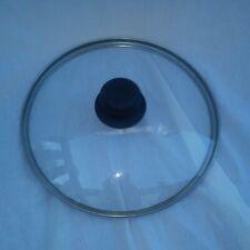 "New listing Pot Pan Clear Lid with Metal Rim Black Knob Inner Rim 8 1/2"" Outer Rim 9 1/8"""