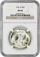 1941-D 50c NGC MS66 - Walking Liberty Half Dollar
