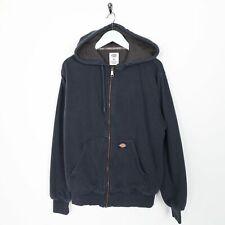 Vintage DICKIES Small Logo Zip Up Hoodie Sweatshirt Navy Blue   Small S