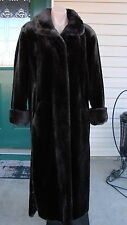 Full Length Chocolate Faux Fur Coat Size 6 - Le Redoute - NWOT