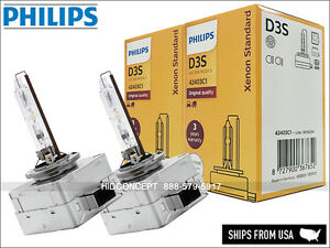 2x PHILIPS OEM D3S 4300K HID XENON Headlight bulbs 42403 XenStart 35W Germany