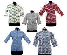 Women Shirt Wear Block Print cotton Tunics Tops Wholesale lot Indian Handblock