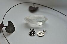 Satya Yoga Philosophy Reversible Lotus Pendant - Sterling Silver   Meditation