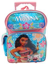 "Disney Moana 16"" Backpack Roller Large Backpack Moana Rolling Backpack NEW"