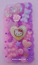 Hello Kitty iphone 6/6s PLUS decoden phone case kawaii pastel pink and purple