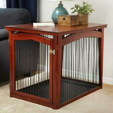 "Zoovilla 2 In 1 Single-Door Wooden Dog Crate And Gate, Large, 39""L"