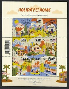 NEW ZEALAND 2021 HOLIDAYS AT HOME SOUVENIR SHEET FINE USED