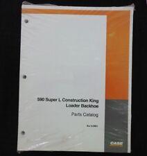 CASE 590 CONSTRUCTION KING SUPER L TRACTOR LOADER BACKHOE PARTS CATALOG MANUAL